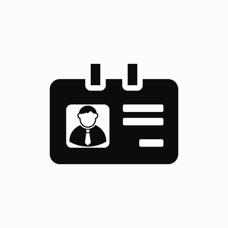 Identification card flat design illustration. Simple vector icon. Illustration