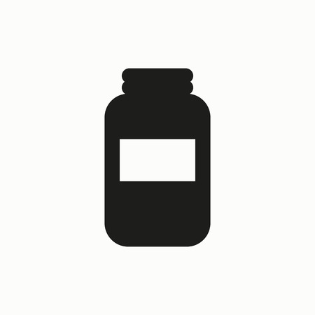 Jar flat design illustration. Simple vector icon. Illustration