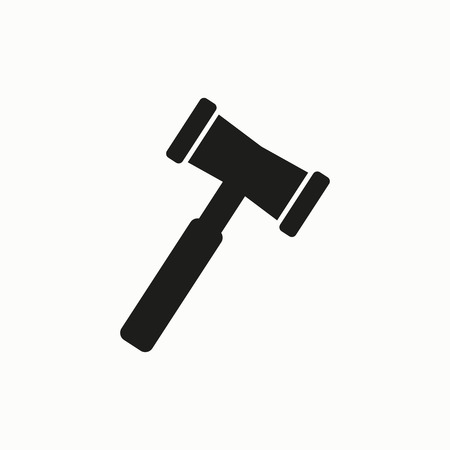 Hammer flat design illustration. Simple vector icon.