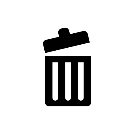 Trash bin vector icon. Illustration
