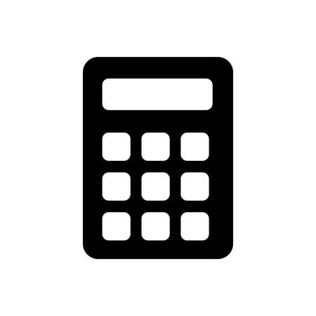 Calculator vector icon. Illustration
