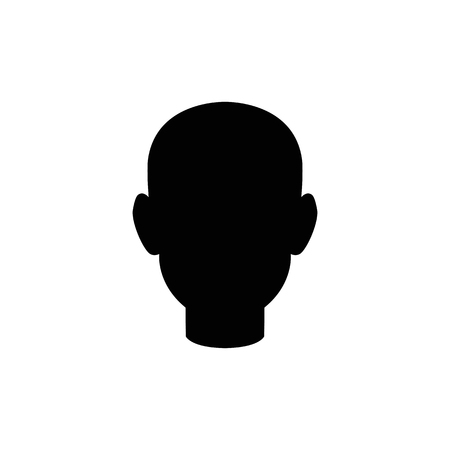 Human head vector icon.