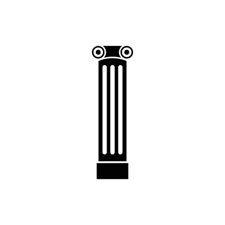 Antique column pillar vector icon. Ancient column icon.