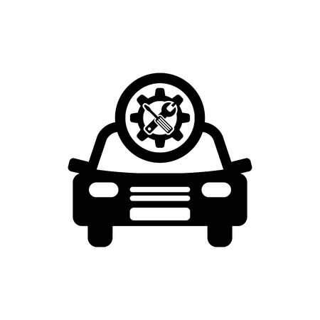 Car service vector icon. Auto repair icon.