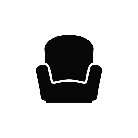 Armchair vector icon. Illustration