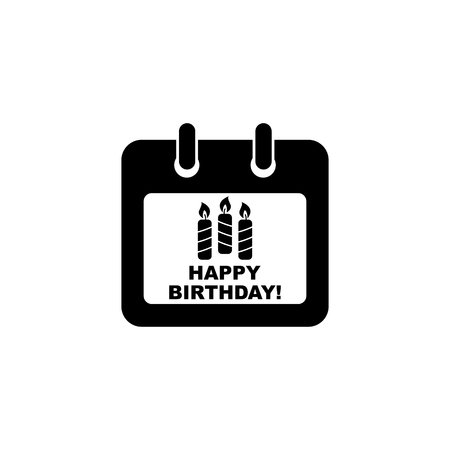 Calendar Icon. Happy Birthday icon. Standard-Bild - 114801818