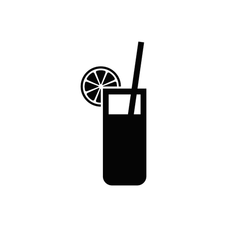 Cocktail or juice vector icon. Illustration