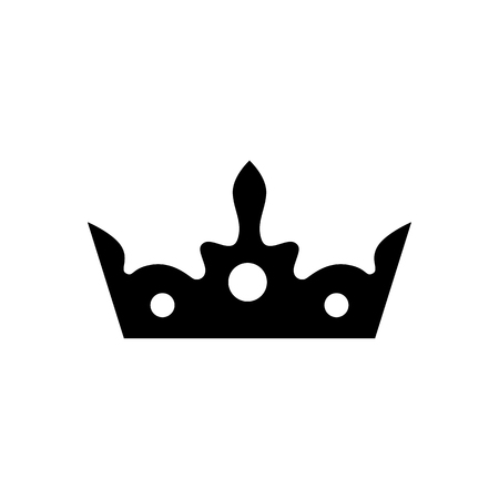 Crown vector icon. King hat symbol.