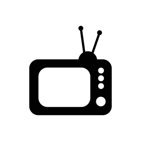 Retro TV vector icon. Standard-Bild - 114801823