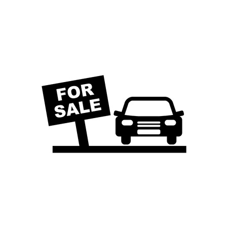 Car sale vector icon.