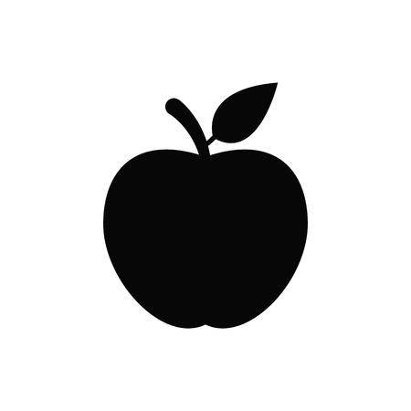 Apple vector icon. Illustration