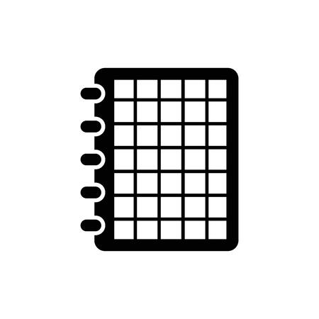 Notebook vector icon.