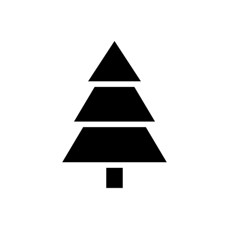 Fir tree vector icon.