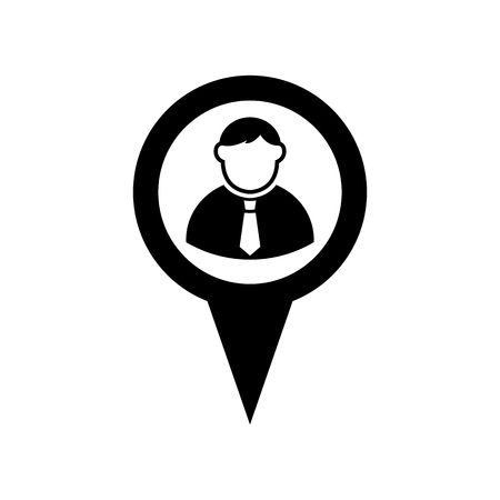Map pointer user sign icon. Standard-Bild - 114801831