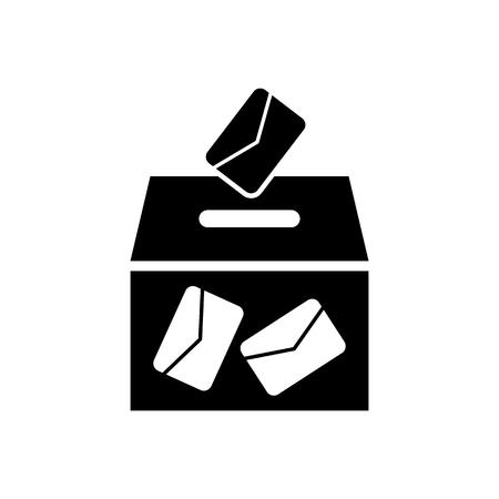 Ballot box vote,vector icon.