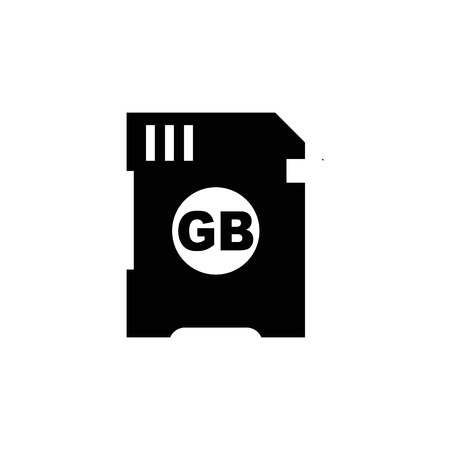 SD, memory card vector icon.