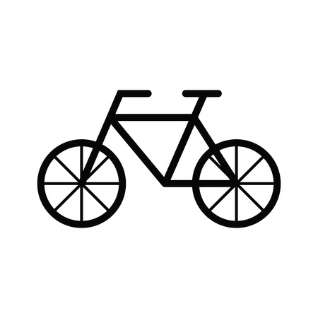Classic bicycle vector icon. Illustration