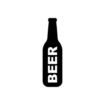Beer bottle vector icon.