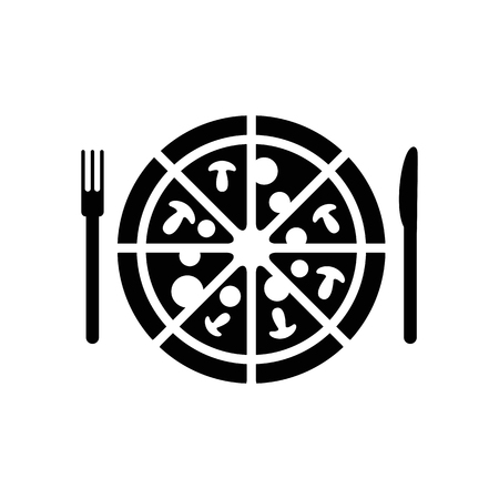 Pizza vector icon.