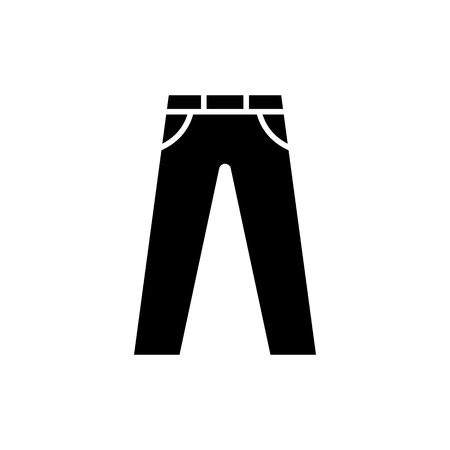 Mens jeans or pants vector icon.