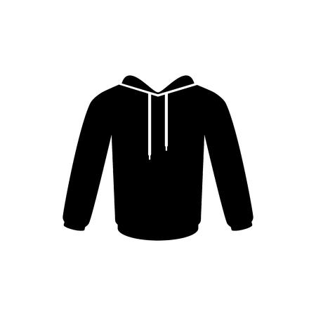 Men's hooded sweatshirt vector icon. Raglan icon.