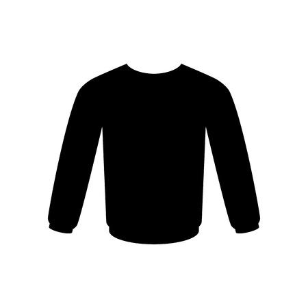 Men's sweatshirt vector icon.