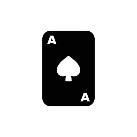 Vector ace playing card. Standard-Bild - 114801864