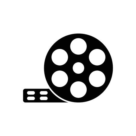 Film reel vector icon.