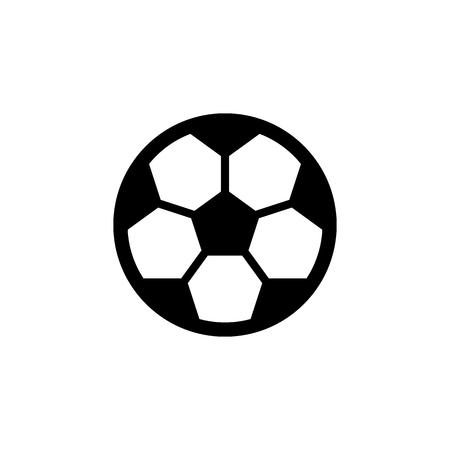 Football ball vector icon. Soccer ball symbol.