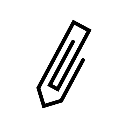 Paperclip vector icon. Çizim