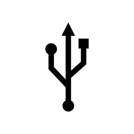 Usb vector icon. Standard-Bild - 114801877
