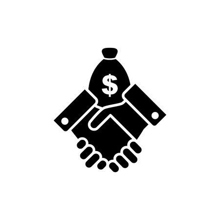 Financial agreement vector icon. Illustration