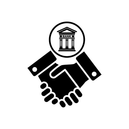 Banking agreement vector icon.