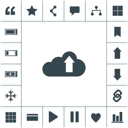 Cloud download vector icon.