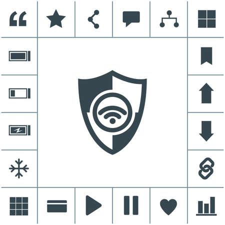 Wireless vector icon.