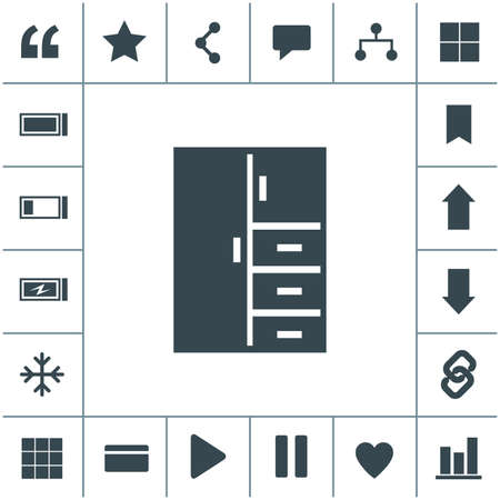 Cupboard flat design illustration. Simple vector icon.
