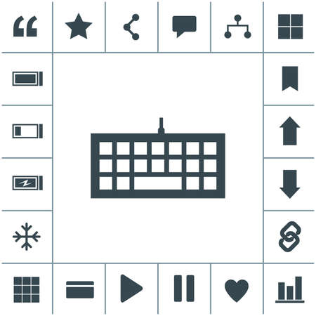 Keyboard flat design illustration. Simple vector icon.