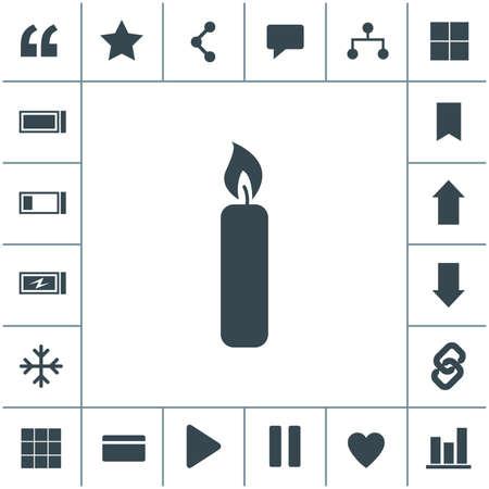 Candle flat design illustration. Simple vector icon. 矢量图像