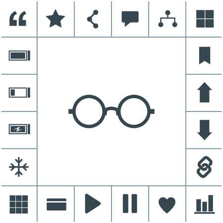 Sunglasses vector icon.