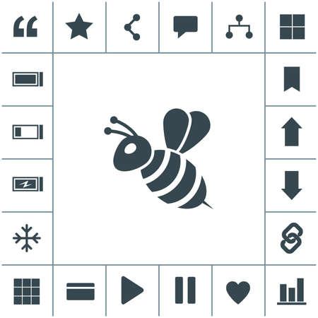 Bee flat design illustration. Simple vector icon.