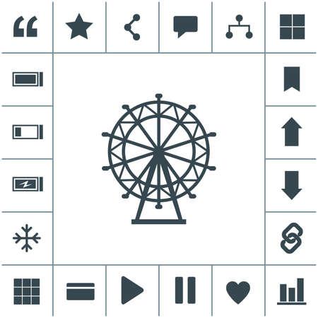 Ferris Wheel flat design illustration. Simple vector icon.