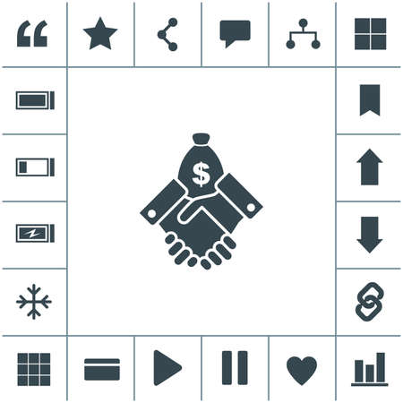 Financial agreement vector icon. 矢量图像