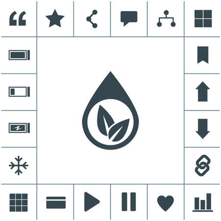 Eco water drop vector icon. Sprout in drop symbol. Ecological symbol. 矢量图像