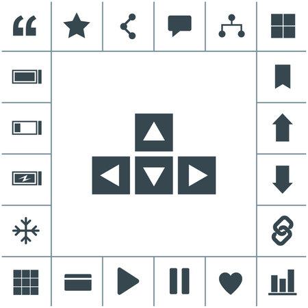 Keyboard arrows flat design illustration. Simple vector icon.