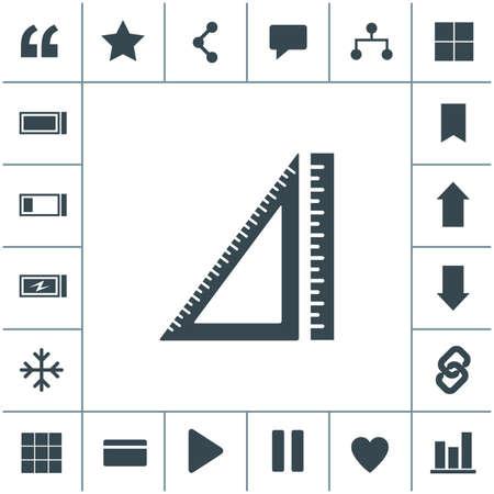 Ruler vector icon.