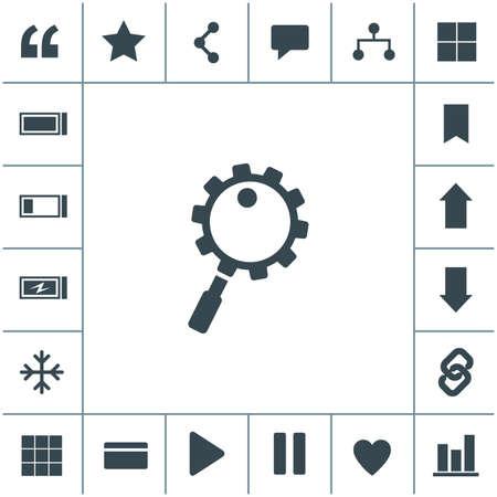 Search vector icon. 矢量图像