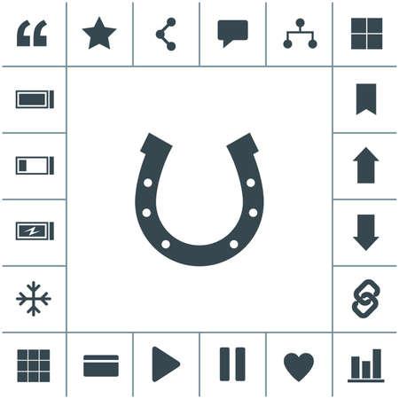Horseshoe flat design illustration. Simple vector icon.