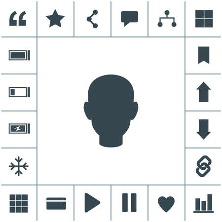 Human head vector icon.