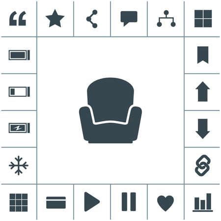 Armchair vector icon. 矢量图像
