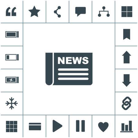 Newspaper vector icon. 矢量图像